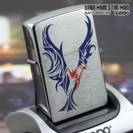 Zippo 24523 – Zippo Tattoo Eagle Brushed Chrome 1