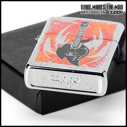 Zippo 24535 – Zippo Flame Guitar Brushed Chrome 1