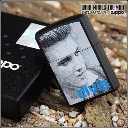 Zippo 24545 – Zippo Elvis Blue Black Matte 1