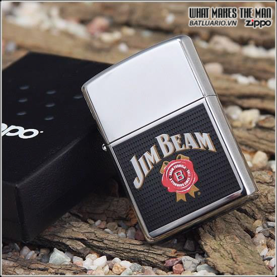 Zippo 24552 – Zippo Jim Beam High Polish Chrome 1