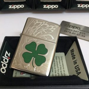 Zippo 24699 – Zippo Four Leaf Clover High Polish Chrome 6