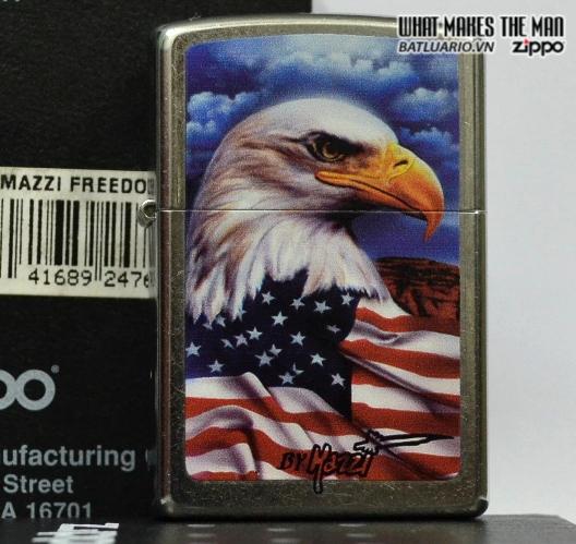 Zippo 24764 – Zippo Mazzi Freedom Watch Street Chrome 2