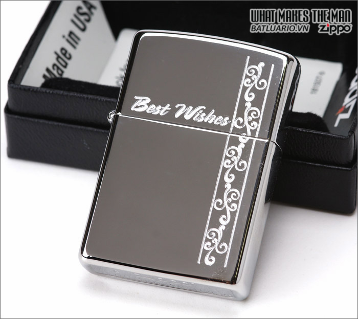 Zippo 24877 – Zippo Best Wishes Polished Chrome 2