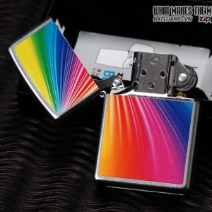 Zippo 24884 – Zippo Lighter Rainbow Satin Chrome
