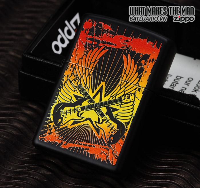 Zippo 24891 – Zippo Lighter Guitar Black Matte