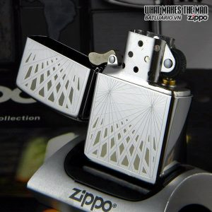 Zippo 24903 – Zippo Webbed High Polish Chrome