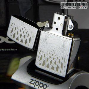 Zippo 24903 – Zippo Webbed High Polish Chrome