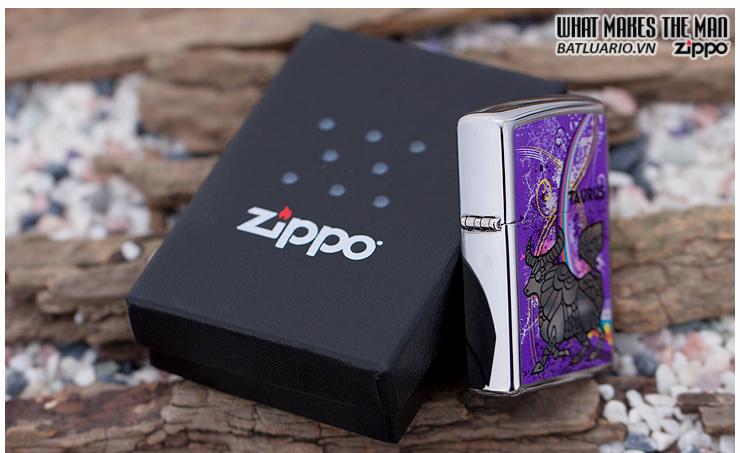 Zippo 24932 – Zippo Zodiac Series Taurus Polished Chrome