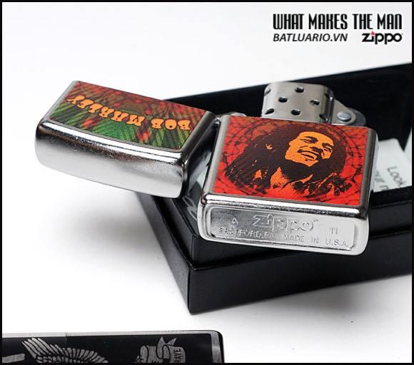 Zippo 24991 – Zippo Bob Marley Face Street Chrome 1