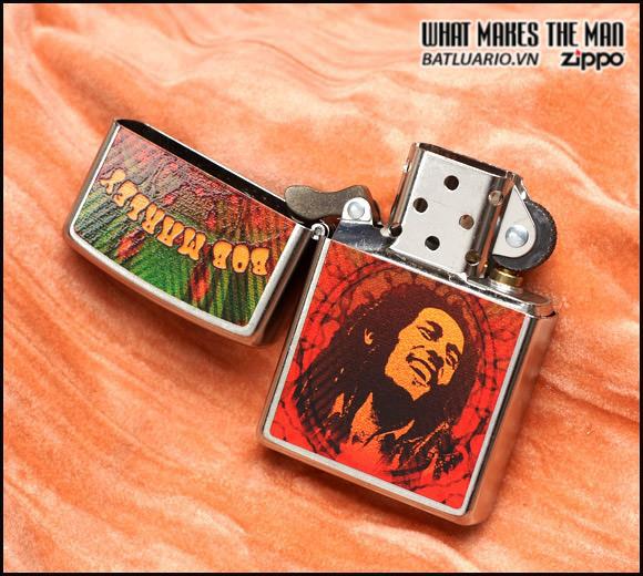 Zippo 24991 – Zippo Bob Marley Face Street Chrome