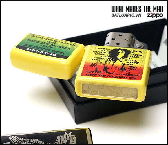 Zippo 24993 – Zippo Bob Marley Yellow Matte 1