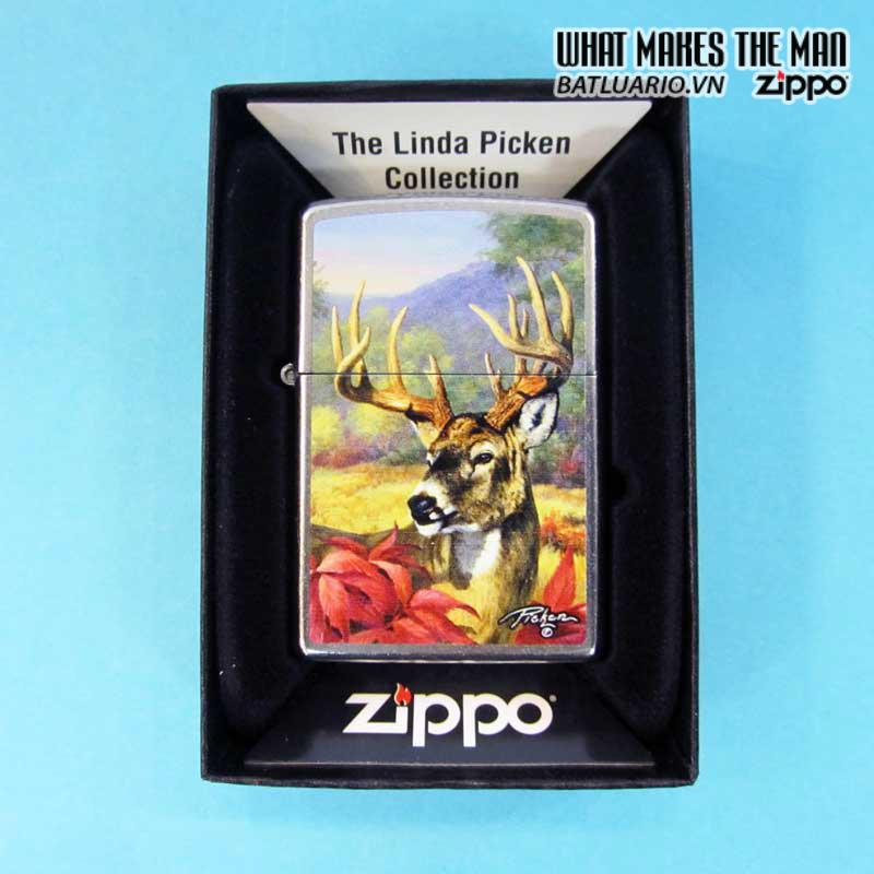 Zippo 28007 – Zippo Linda Picken Stag Head Street Chrome 2