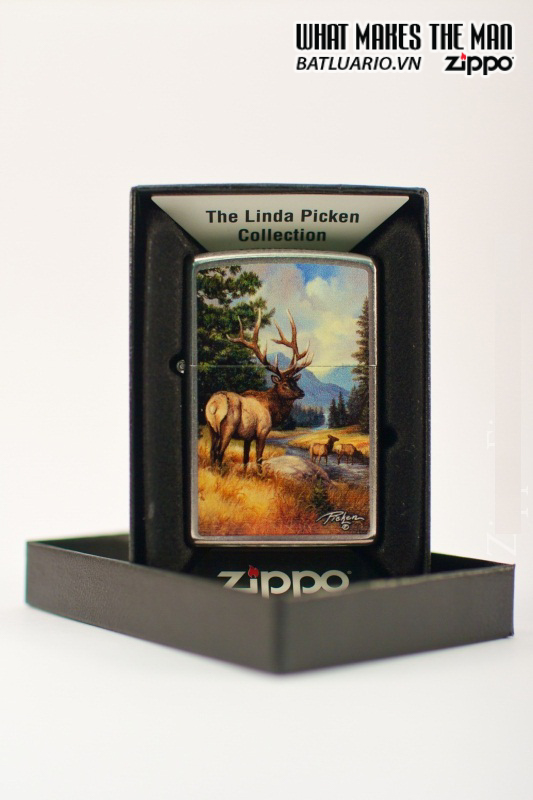 Zippo 28008 – Zippo Linda Picken Elk Street Chrome 1