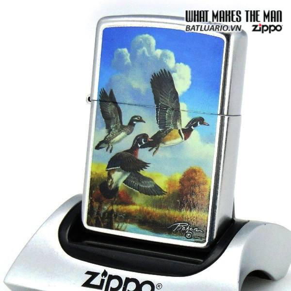 Zippo 28009 – Zippo Linda Picken Flying Ducks Street Chrome