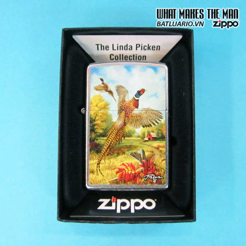 Zippo 28010 – Zippo Linda Picken Flying Pheasants Street Chrome