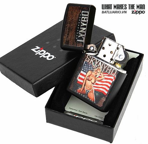 Zippo 28022 – Zippo Lynyrd Skynyrd American Magnet Girl Black Matte