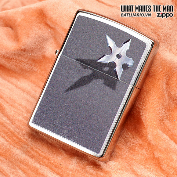 Zippo 28030 – Zippo Cornered Star Brushed Chrome