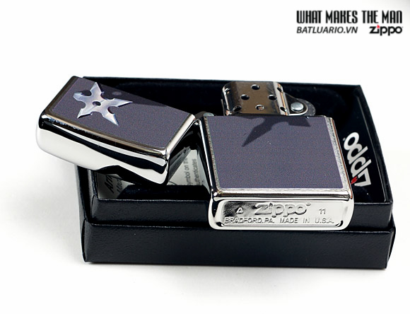 Zippo 28030 – Zippo Cornered Star Brushed Chrome 1