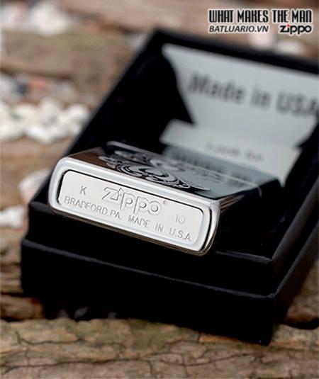Zippo 28050 – Zippo Mirrored Hearts High Polish Chrome 2