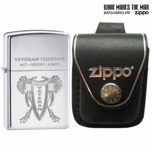 Zippo 28054 – Zippo Veteran Forever High Polish Chrome