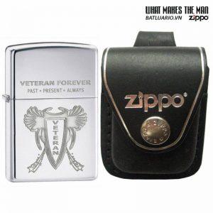 Zippo 28054 – Zippo Veteran Forever High Polish Chrome