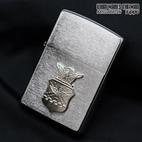 Zippo 280AFC – Zippo Air Force Crest Emblem Brushed Chrome