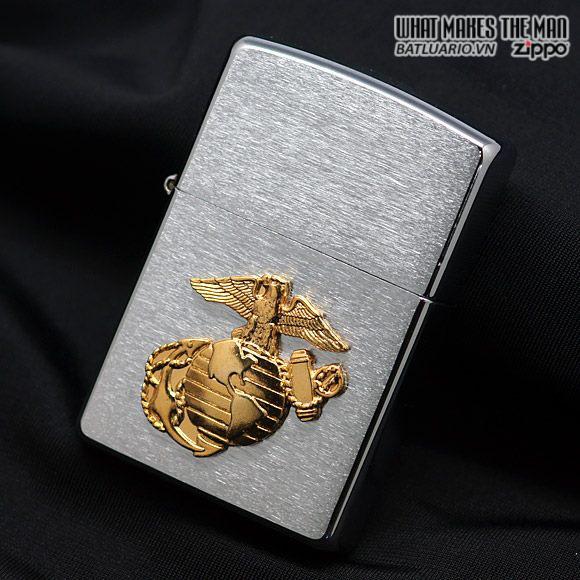Zippo 280MAR – Zippo Marines Emblem Brushed Chrome
