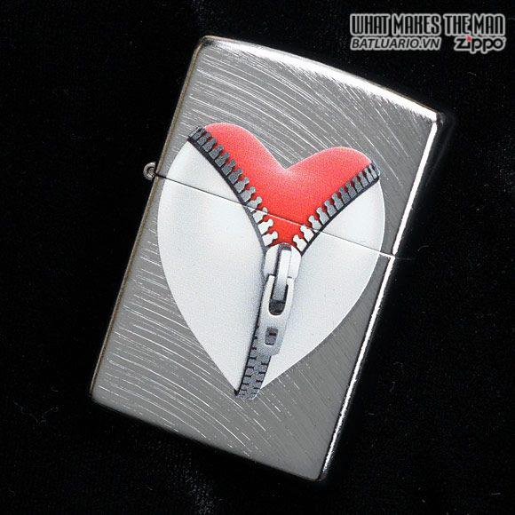 Zippo 28327 – Zippo Zip Heart Ebony Finish 1