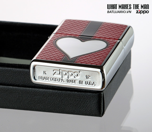 Zippo 28466 – Zippo Chrome Heart Polished Chrome 1