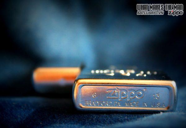 Zippo 28491 – Zippo Made in USA Stamp Street Chrome 1