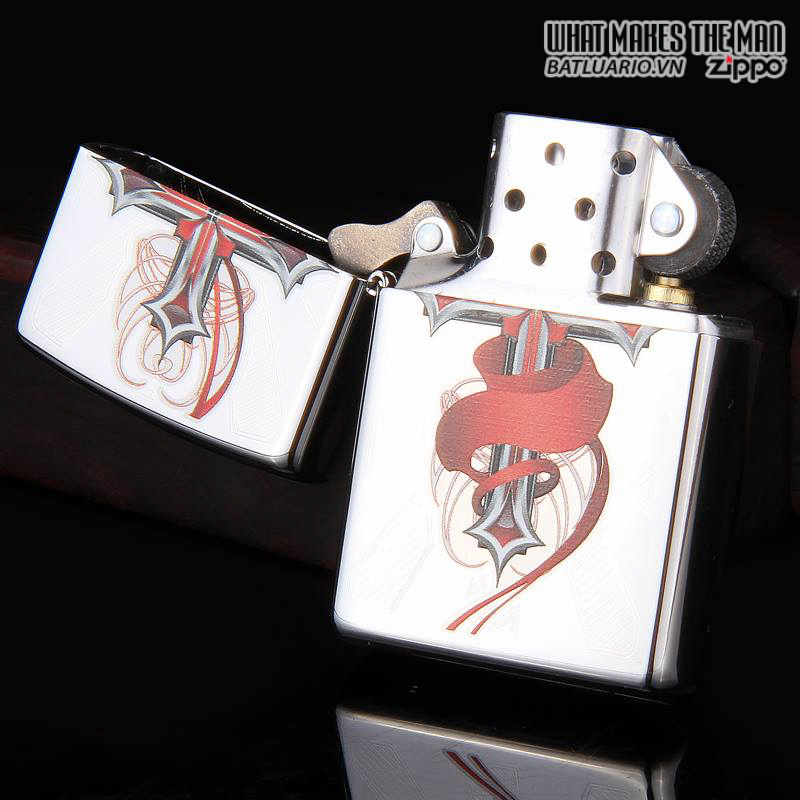 Zippo 28526 – Zippo Cross with Wings High Polish Chrome