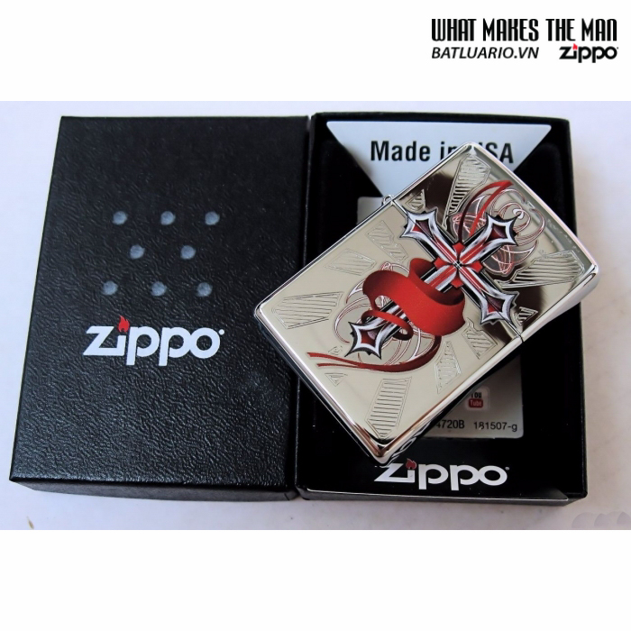 Zippo 28526 – Zippo Cross with Wings High Polish Chrome 1