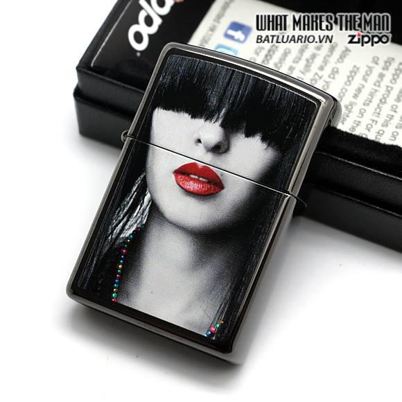 Zippo 28536 – Zippo Red Lips Ebony 2