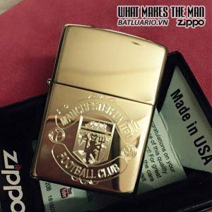 Zippo Khắc Logo Manchester United 01 - Zippo 254B.MU01