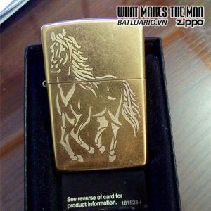 Zippo khắc Ngựa 01 - Zippo 207G.NGUA01