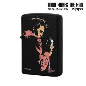 Zippo 20863 - Zippo Elvis Presley Black Matte Regular Petrol