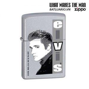 Zippo 21038 - Zippo Elvis Monochrome Satin Chrome