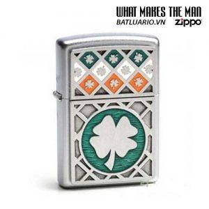 Zippo 21152 - Zippo Luck of The Irish Emblem Satin Chrome