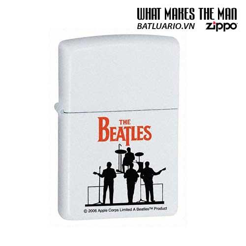 Zippo 24060 - Zippo White Matte Beatles Silhouette