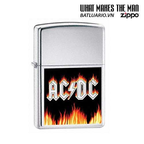 Zippo 24277 - Zippo AC/DC Flames Brushed Chrome