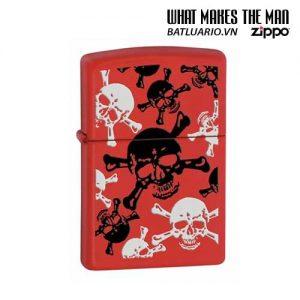 Zippo 24471 - Zippo Skull & Crossbones Red Matte