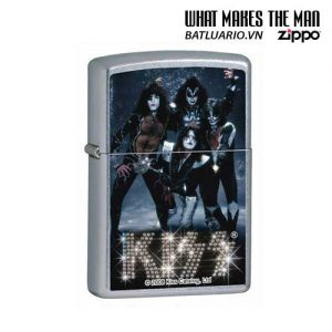 Zippo 24564 - Zippo Lighter Kiss Band Street Chrome