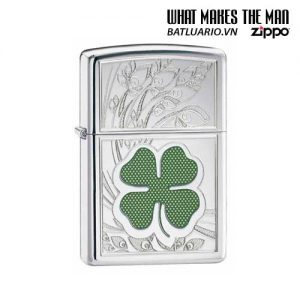 Zippo 24699 - Zippo Four Leaf Clover High Polish Chrome