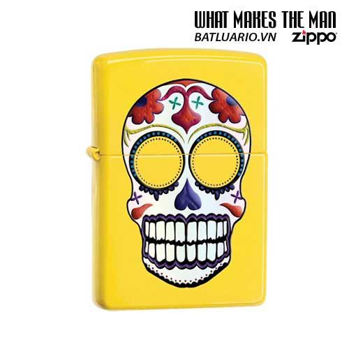 Zippo 24894 - Zippo Day of the Dead Skull Lemon