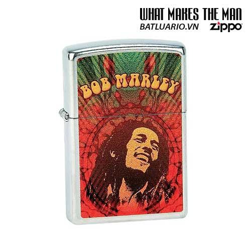 Zippo 24991 - Zippo Bob Marley Face Street Chrome