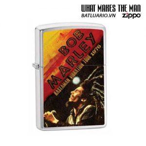 Zippo 24992 - Zippo Bob Marley Rastaman 76 Tour Brushed Chrome