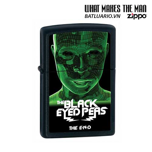 Zippo 28026 - Zippo Black Matte Black Eyed Peas The End