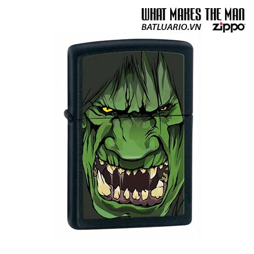 Zippo 28041 - Zippo Black Matte Angry Hulk