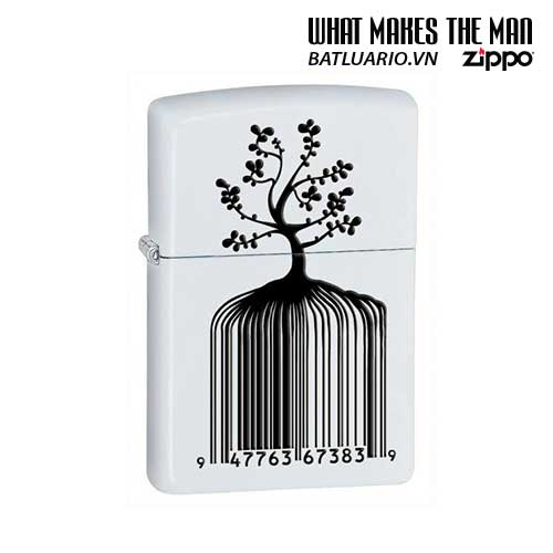 Zippo 28296 - Zippo Identity Tree Barcode White Matte