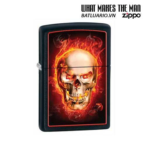 Zippo 28307 - Zippo Burning Skull Black Matte
